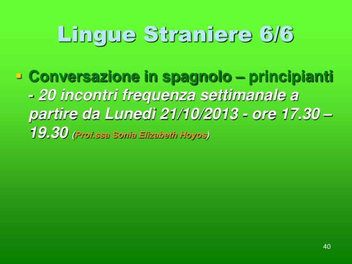 Lingue Straniere 6/