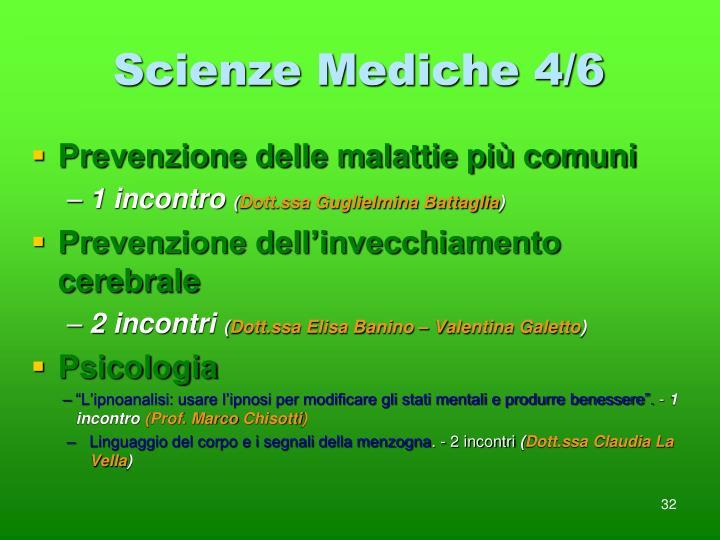 Scienze Mediche 4/6
