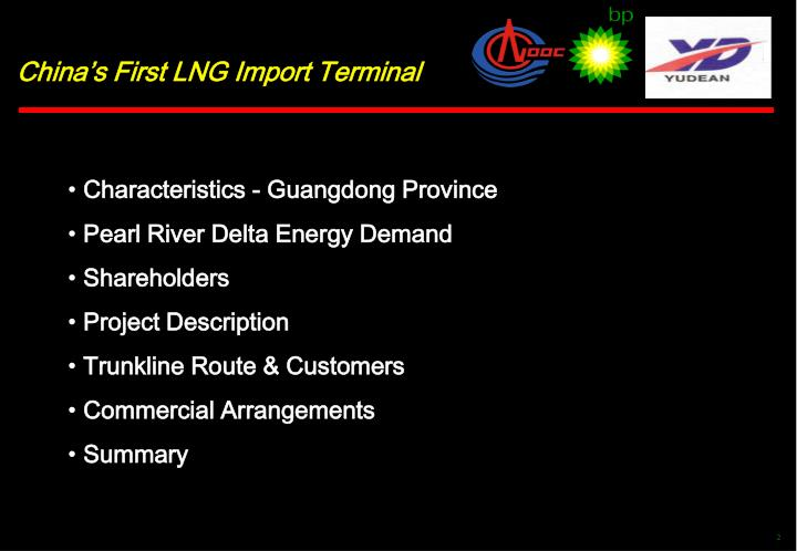 China's First LNG Import Terminal