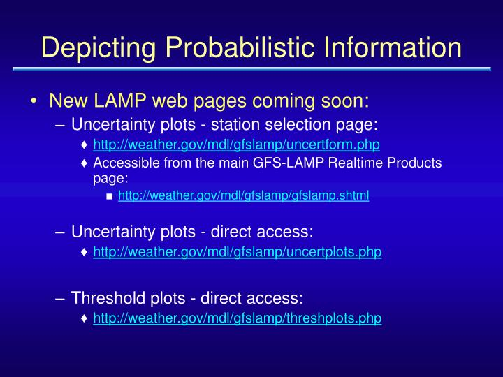 Depicting Probabilistic Information