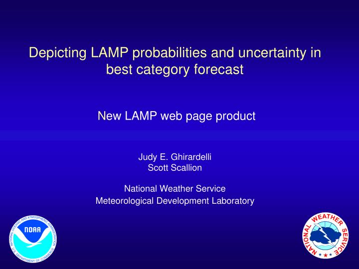 Depicting LAMP probabilities and uncertainty in best category forecast