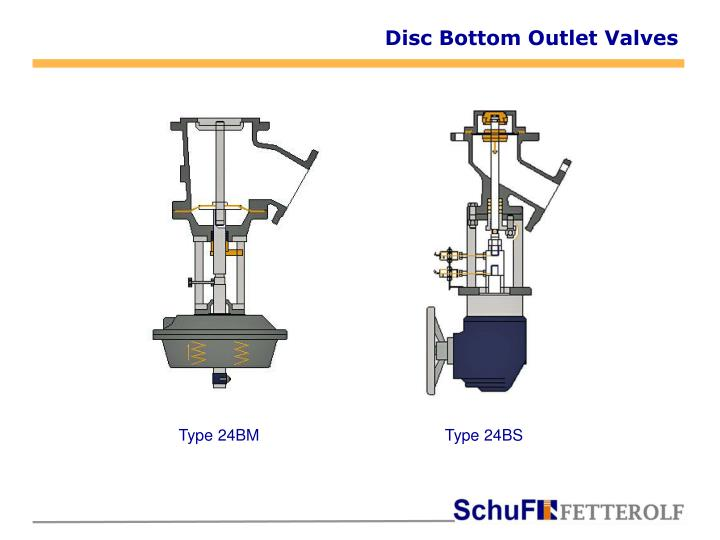 Disc Bottom Outlet Valves