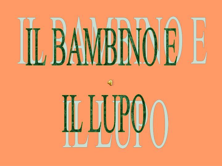 IL BAMBINO E