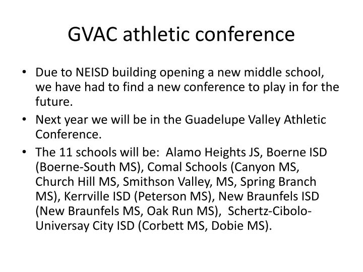 GVAC athletic conference