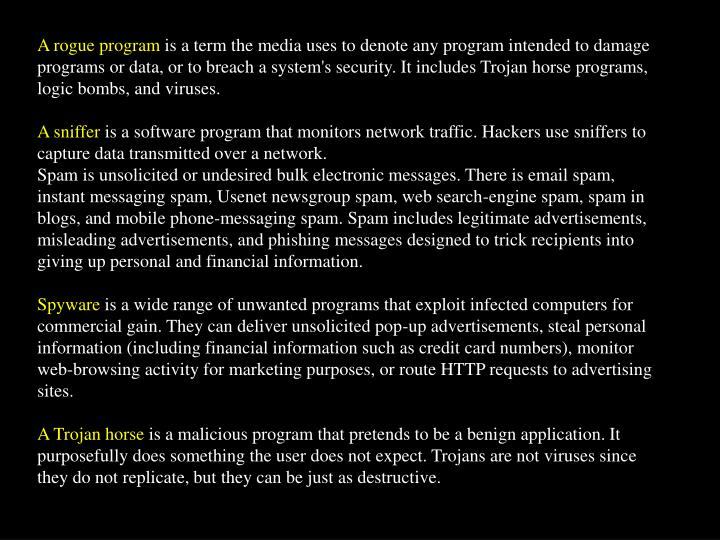 A rogue program