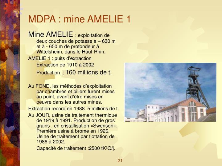 MDPA : mine AMELIE 1