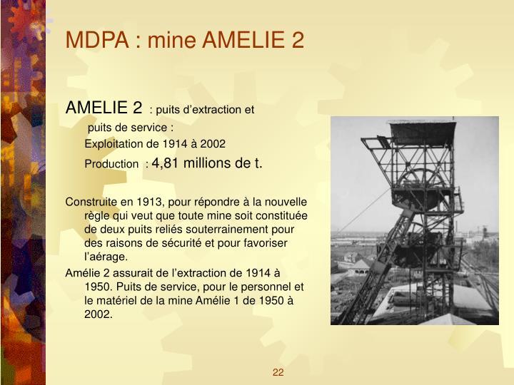 MDPA : mine AMELIE 2