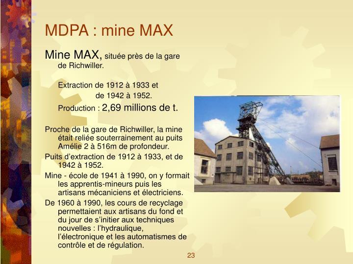 MDPA : mine MAX