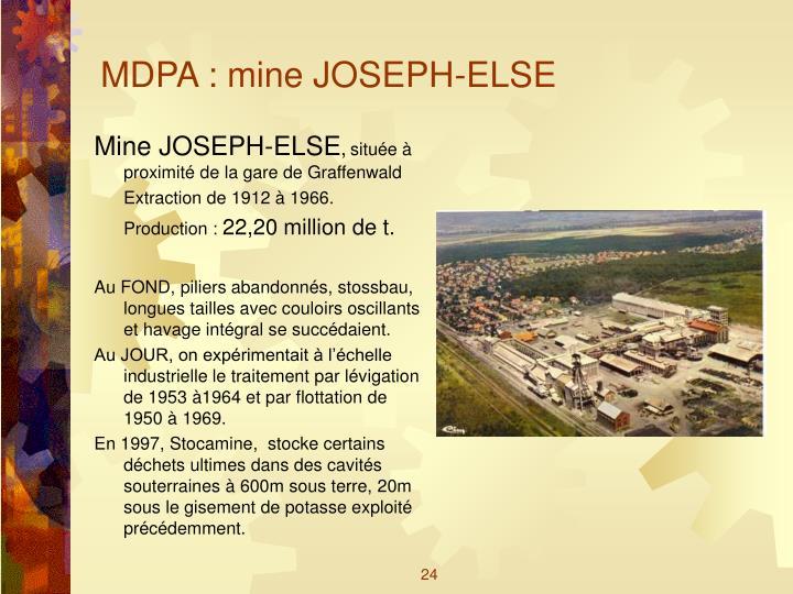 MDPA : mine JOSEPH-ELSE