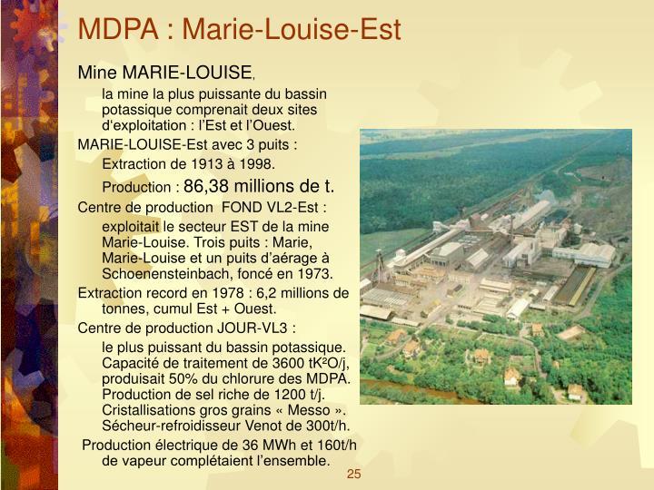 MDPA : Marie-Louise-Est