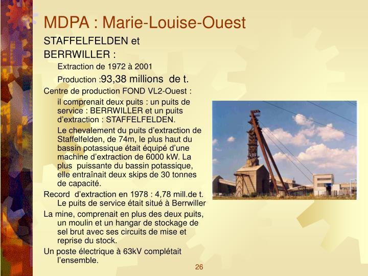 MDPA : Marie-Louise-Ouest