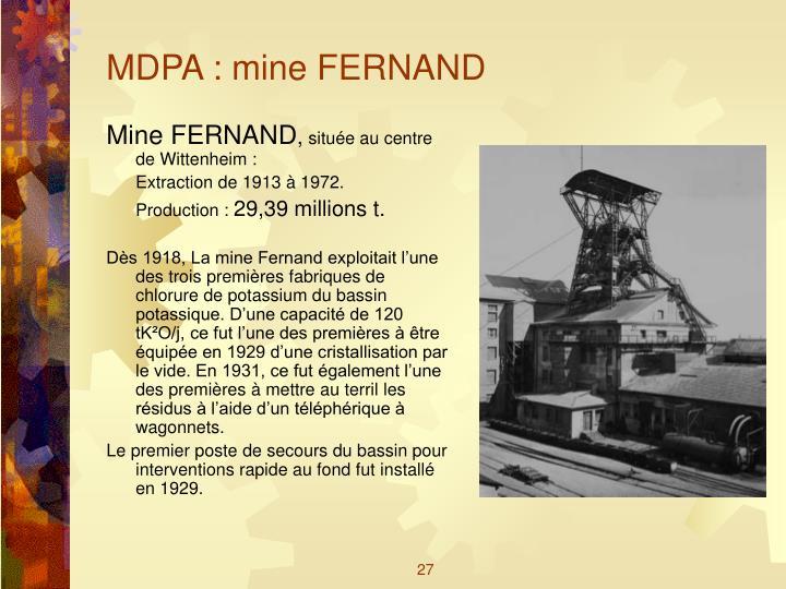 MDPA : mine FERNAND