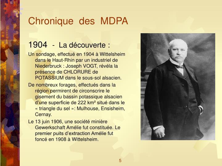 Chronique  des  MDPA
