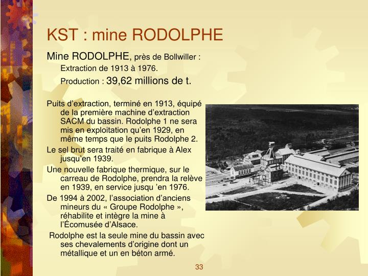 KST : mine RODOLPHE