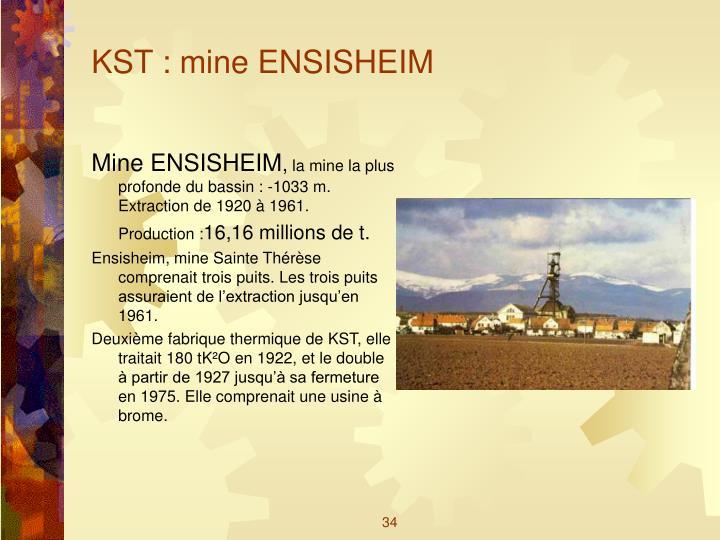 KST : mine ENSISHEIM