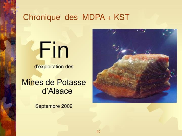 Chronique  des  MDPA + KST