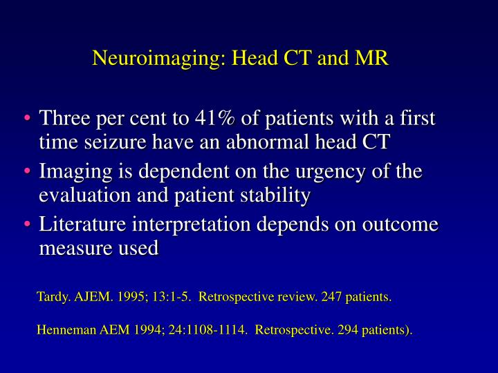 Neuroimaging: Head CT and MR