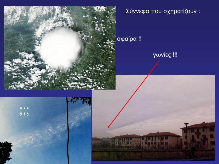 Σύννεφα που σχηματίζουν