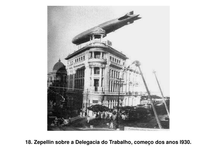 18. Zepellin sobre a Delegacia do Trabalho, começo dos anos l930.