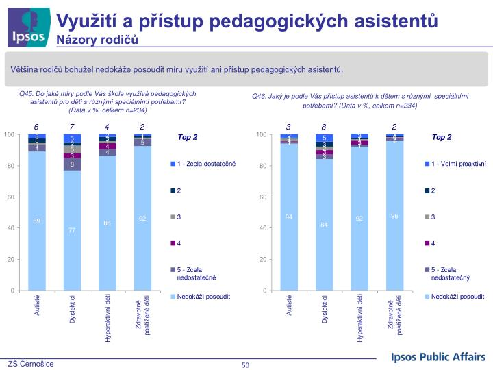 Využití a přístup pedagogických asistentů
