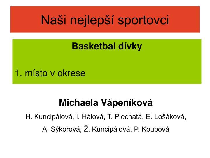 Naši nejlepší sportovci