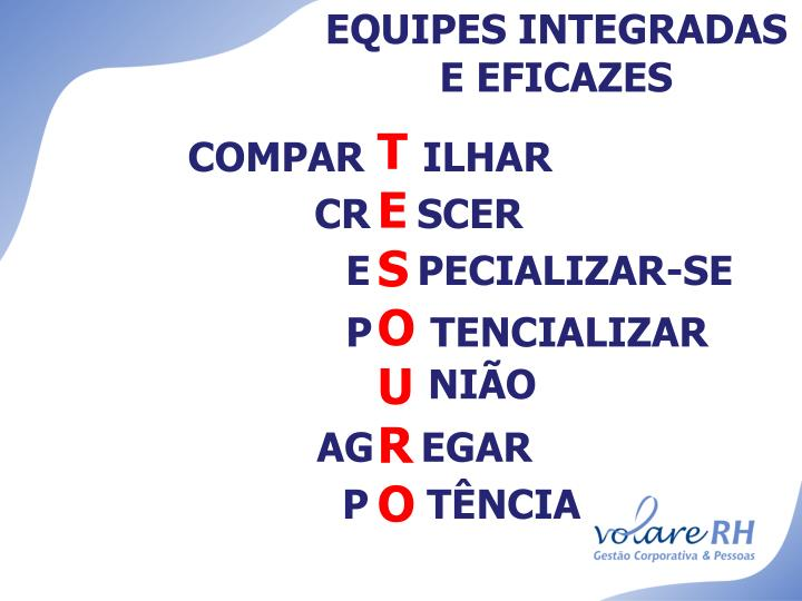 EQUIPES INTEGRADAS