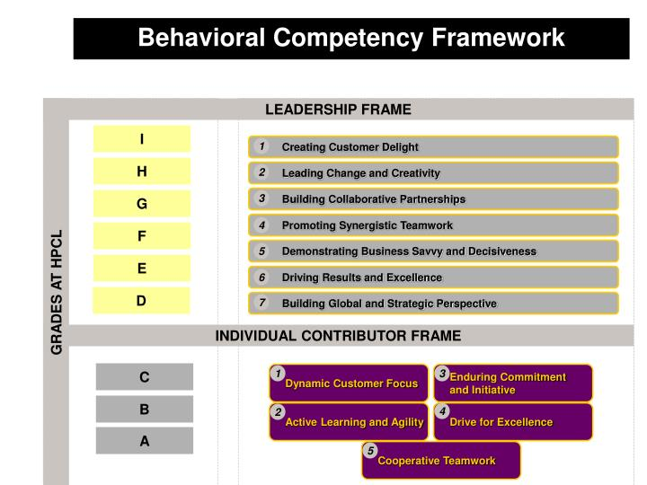 Behavioral Competency Framework