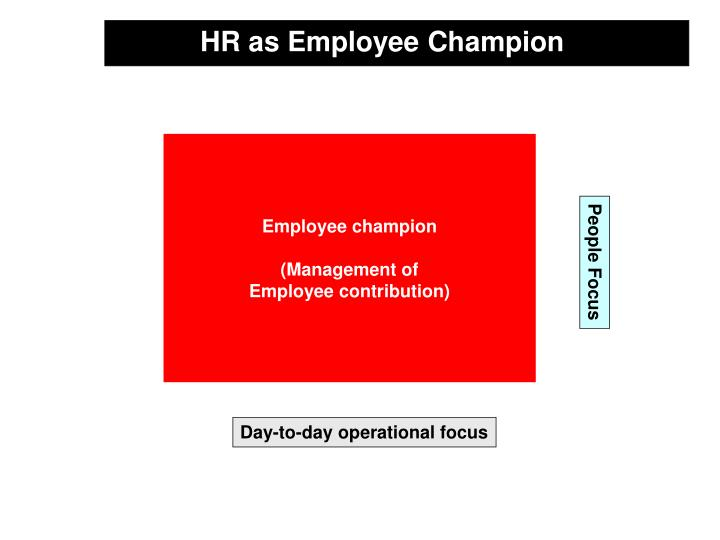 HR as Employee Champion