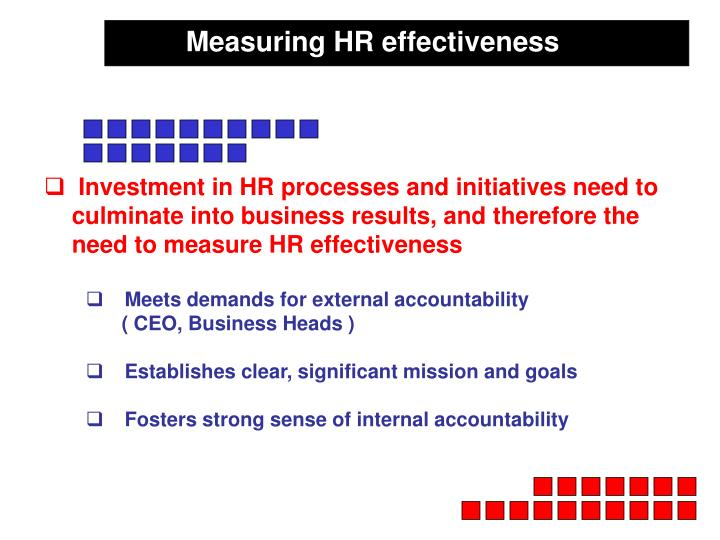 Measuring HR effectiveness