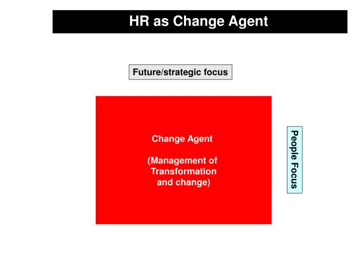 HR as Change Agent