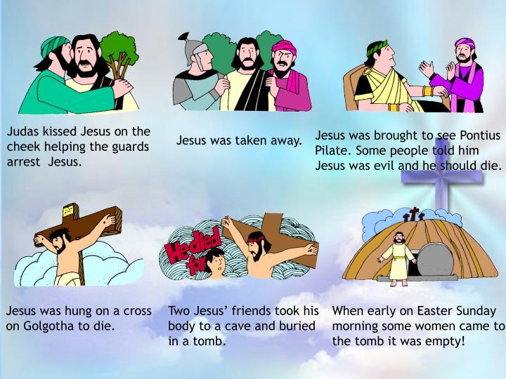 Judas kissed Jesus on the