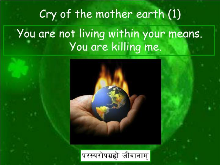Cry of the mother earth (1)