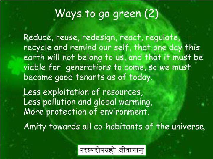 Ways to go green (2)