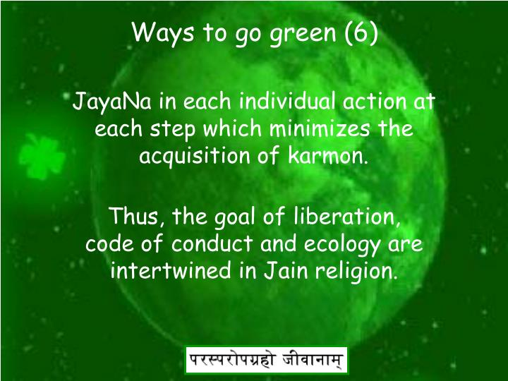 Ways to go green (6)