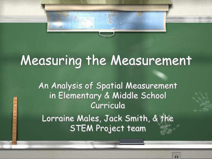 Measuring the measurement