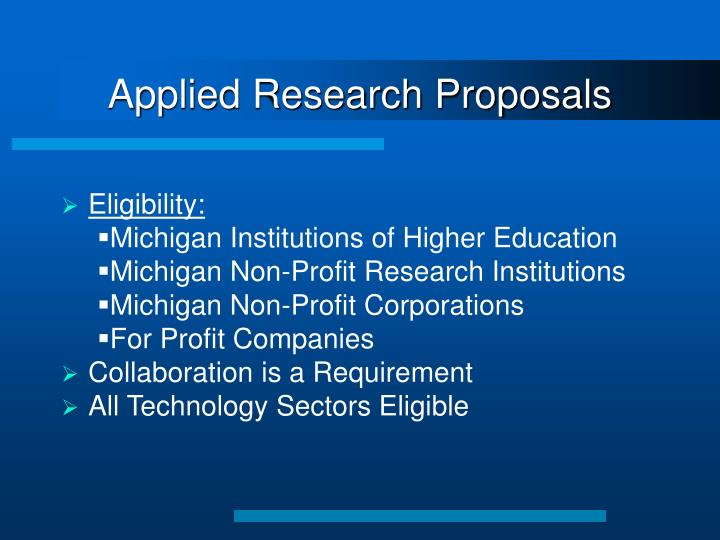 Applied Research Proposals
