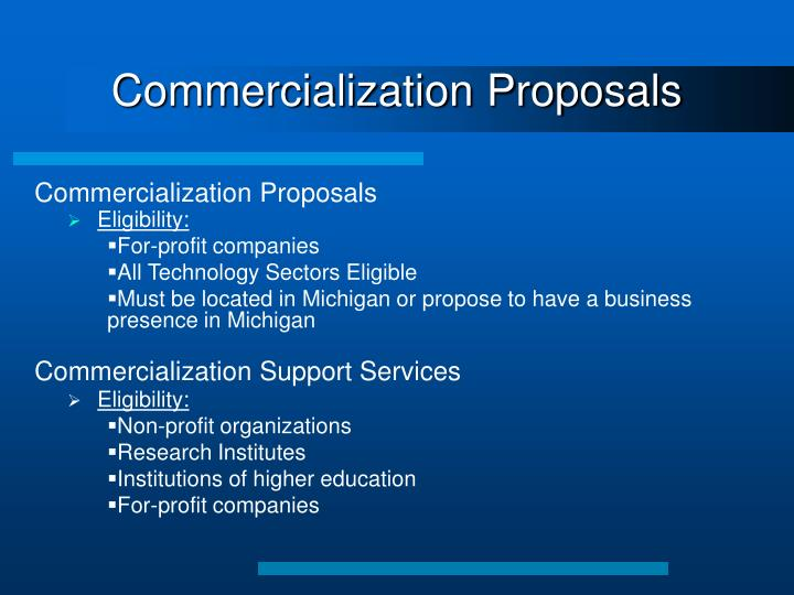 Commercialization Proposals