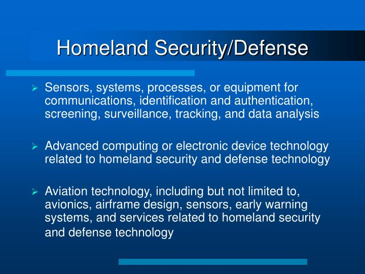 Homeland Security/Defense