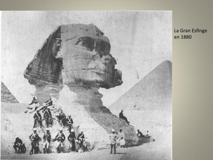 La Gran Esfinge en 1880