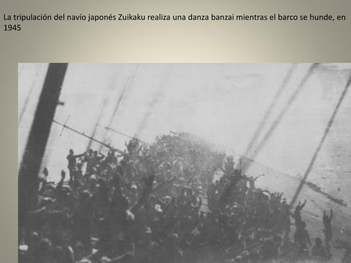 La tripulación del navío japonés