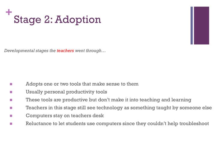 Stage 2: Adoption