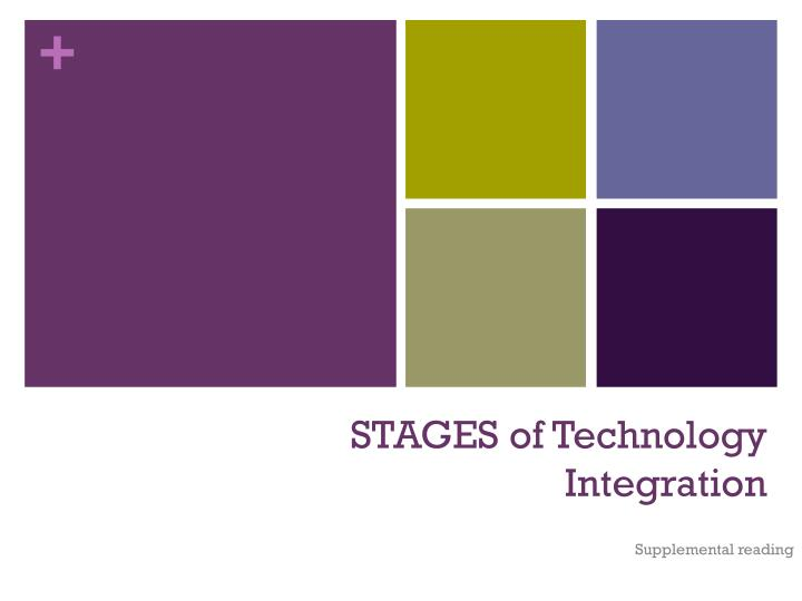 Stages of technology integration