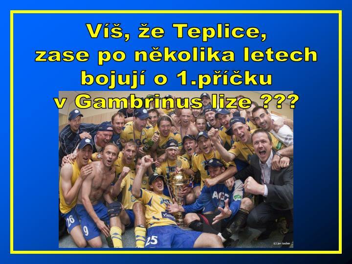 Víš, že Teplice,