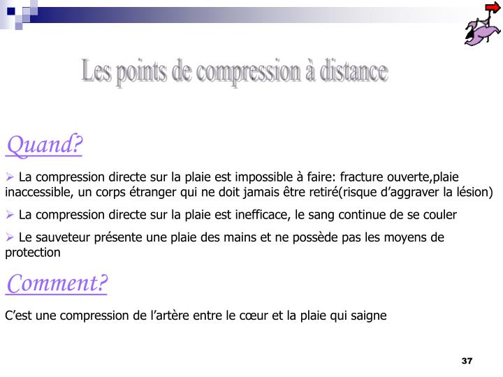 Les points de compression à distance