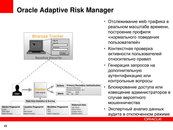 Oracle Adaptive Risk Manager