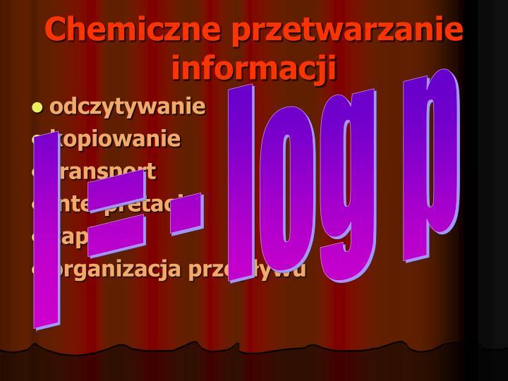 Chemiczne przetwarzanie informacji