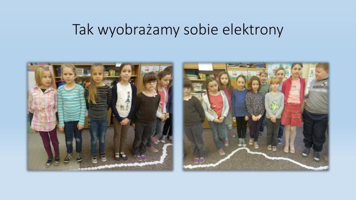 Tak wyobrażamy sobie elektrony