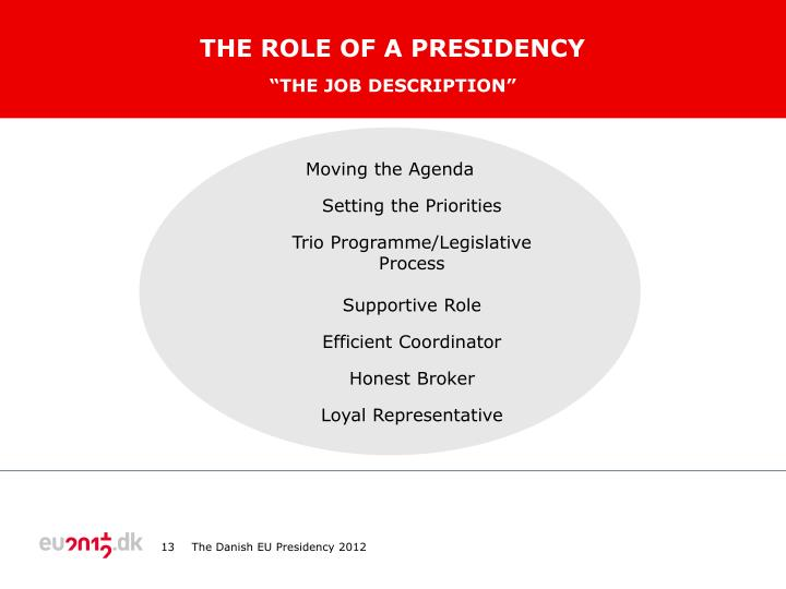 The role of a presidency