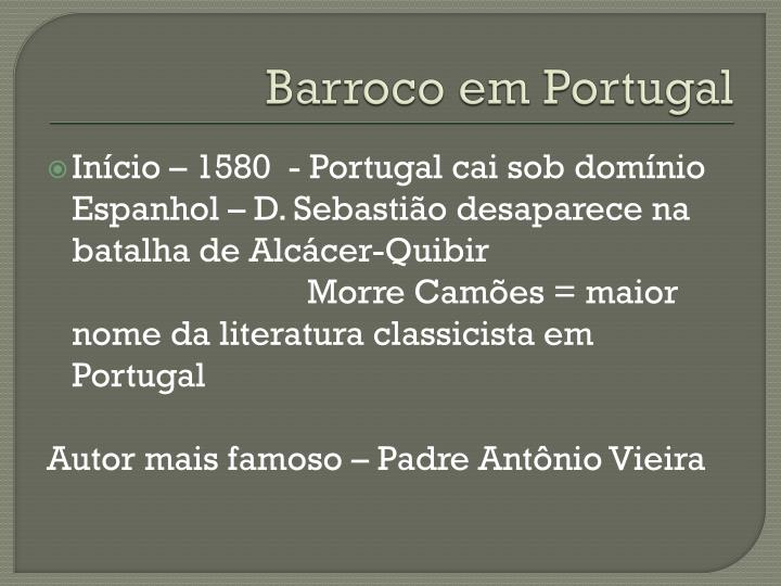 Barroco em Portugal