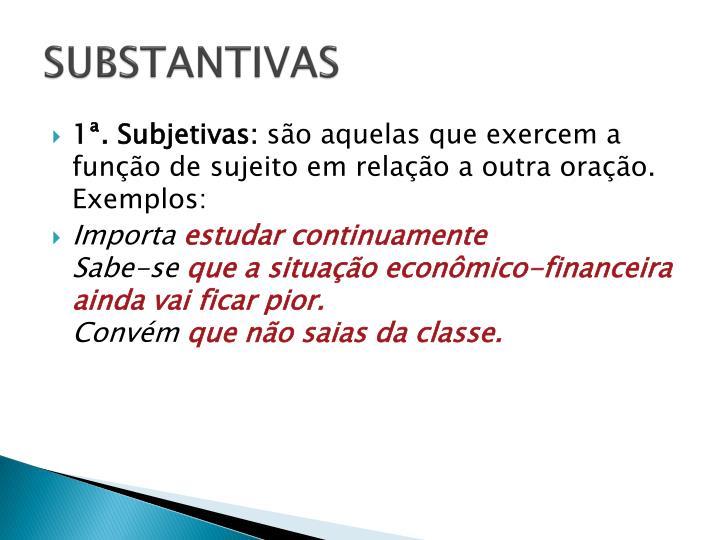 SUBSTANTIVAS